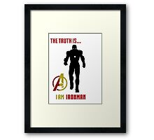 Iron Man in Avengers Framed Print