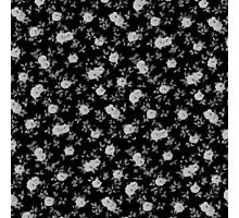 Chic vintage black and white floral pattern Photographic Print