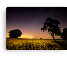 rapeseed field by moonlight Canvas Print