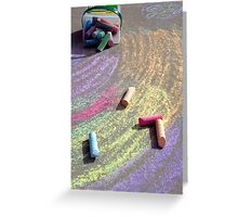 Child's Chalk Art 3 Greeting Card