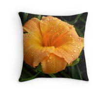 Orange Daylilly Throw Pillow