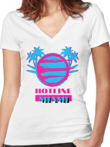 Hotline Miami: Vice Women's Fitted V-Neck T-Shirt