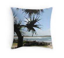 (16)-Back Beach Throw Pillow