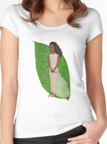 Zoe, Saying Goodbye Women's Fitted Scoop T-Shirt