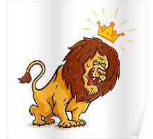 Angry lion  Poster