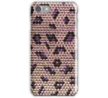 Abstract pink purple faux glitter animal print iPhone Case/Skin