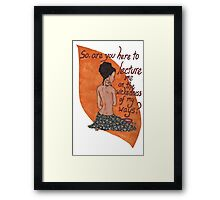 Inara bathing Framed Print