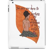 Inara bathing iPad Case/Skin