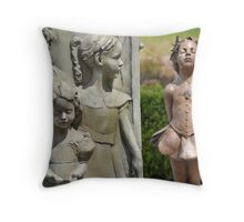 New Girl at the Park Throw Pillow