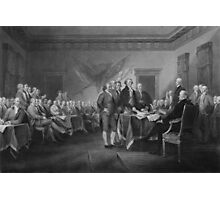 Signing The Declaration of Independence Photographic Print