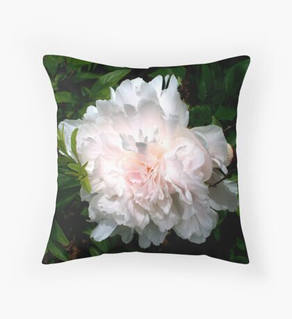 Welcoming Spring - Peony Throw Pillow