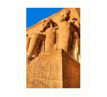 Ramses Colossi - Abu Simbel  Art Print