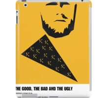 the good, bad ugly clint eastwood western movie poster iPad Case/Skin