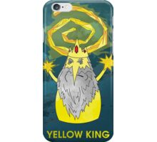 ice yellow king adventure time and true detective mashup iPhone Case/Skin