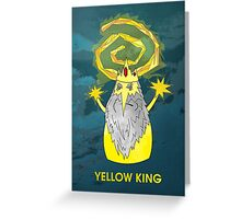 ice yellow king adventure time and true detective mashup Greeting Card