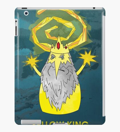 ice yellow king adventure time and true detective mashup iPad Case/Skin