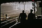 Guards going to duty Flinders Street Station 19580904 0000 by Fred Mitchell