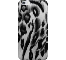 Vintage black white abstract animal print pattern iPhone Case/Skin