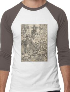 The Woman Clothed with the Sun. The Dragon with Seven Heads Men's Baseball ¾ T-Shirt