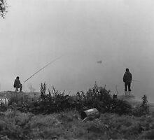 Fishing On The Foggy Rhine by Bob Wall