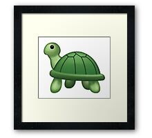 Turtle Emoji Framed Print