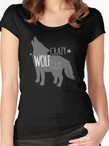 Crazy Wolf Guy Women's Fitted Scoop T-Shirt