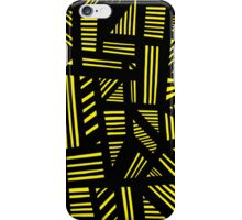 Lucear Abstract Expression Yellow Black iPhone Case/Skin