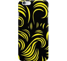Hadsall Abstract Expression Yellow Black iPhone Case/Skin