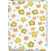 Retro green orange abstract floral pattern iPad Case/Skin