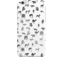 Black white pastel color watercolor animal pattern iPhone Case/Skin