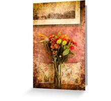 Floral Thank you for my friend Greeting Card