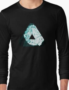 Abstract Geometry: Ocean Crystal (Ice Blue) Long Sleeve T-Shirt