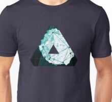 Abstract Geometry: Ocean Crystal (Ice Blue) Unisex T-Shirt