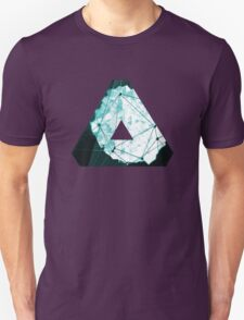 Abstract Geometry: Ocean Crystal (Ice Blue) T-Shirt