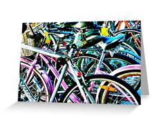 Contrasty Bikes Greeting Card
