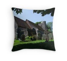 St. George church - Brede parish -East Sussex Throw Pillow