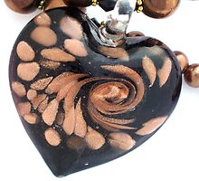 Black and Bronze Heart   by Erica Long