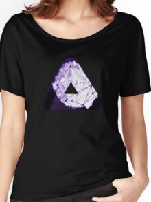 Abstract Geometry: Poison Violet (Dark Purple/Violet) Women's Relaxed Fit T-Shirt