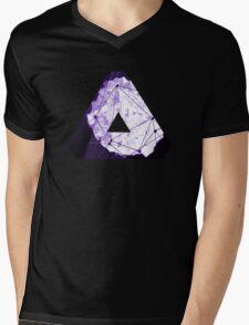 Abstract Geometry: Poison Violet (Dark Purple/Violet) Mens V-Neck T-Shirt