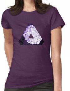 Abstract Geometry: Poison Violet (Dark Purple/Violet) Womens Fitted T-Shirt