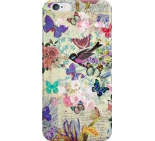 Colorful bird butterflies vintage floral pattern iPhone Case/Skin