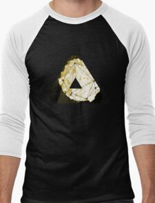 Abstract Geometry: Sand Palace (Deus Ex Gold) Men's Baseball ¾ T-Shirt