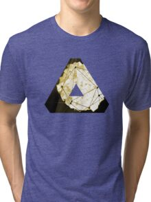 Abstract Geometry: Sand Palace (Deus Ex Gold) Tri-blend T-Shirt