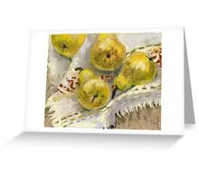 Still life with Pears on a Tablecloth Greeting Card