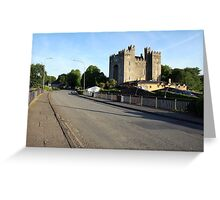 Summers morning at Bunratty Castle Greeting Card