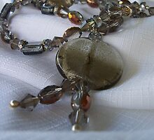 Long Silver and Bronze Necklace by Erica Long