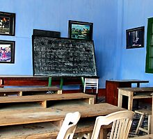 The School with Blue Walls - Hoi An, Vietnam. by Tiffany Lenoir