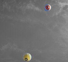 Balloons overhead by Robert Steadman