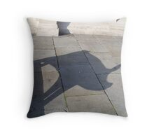 Pig Shadow Throw Pillow