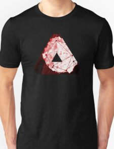 Abstract Geometry: Blood Ruby (Dark Red) T-Shirt